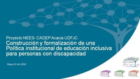 Reunión Política de educación inclusiva para personas con discapacidad