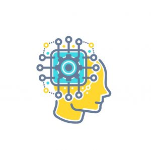 Machine learning, artificial neural network, AI vector illustration