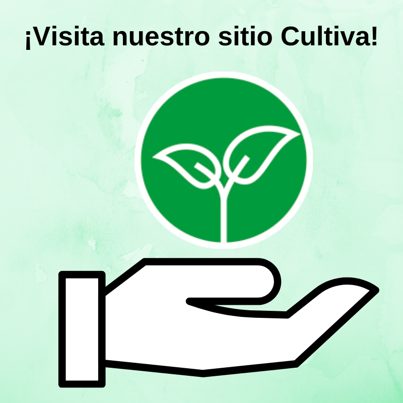 Logo de cultiva con el mensaje: Visita nuestro sitio Cultiva