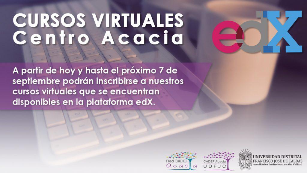 Inscripciones para cursos virtuales del Centro Acacia hasta el 7 de septiembre de 2020