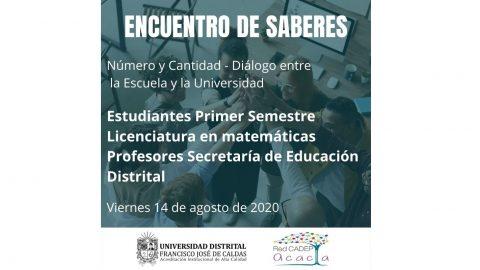 Así se vivió el Encuentro de Saberes: Número y cantidad – Diálogo entre la Escuela y la Universidad