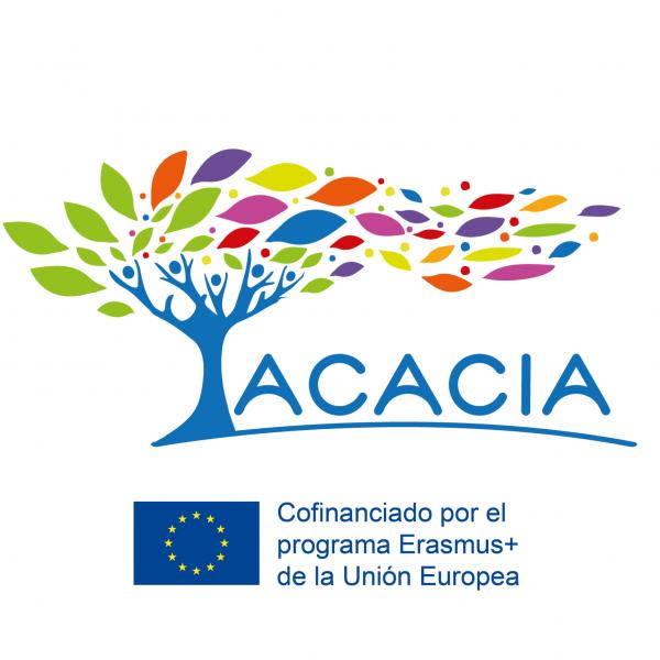 Logo del proyecto ACACIA y logo del programa Erasmus+