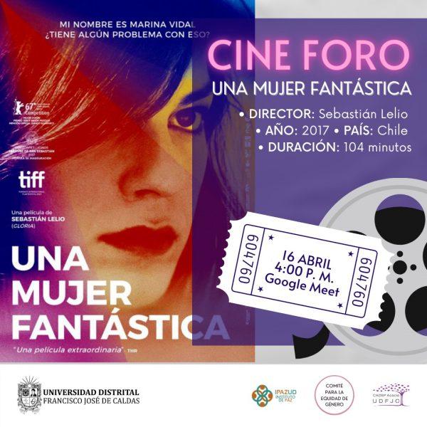 Banner del cine foro: Una mujer fantástica
