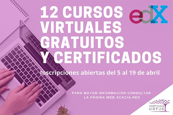 12 cursos virtuales gratuitos y certificados. Inscripciones del 5 al 19 de abril