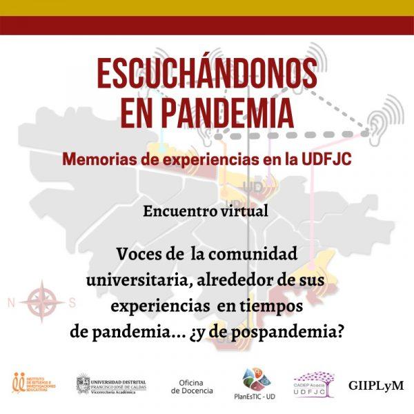 Encuentro virtual: voces de la comunidad universitaria