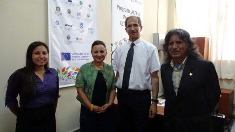 Destacado profesor y científico francés visita la Facultad de Letras y se reúne con coordinadores del proyecto Acacia