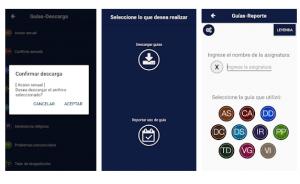 Vista de la interfaz de la aplicación móvil