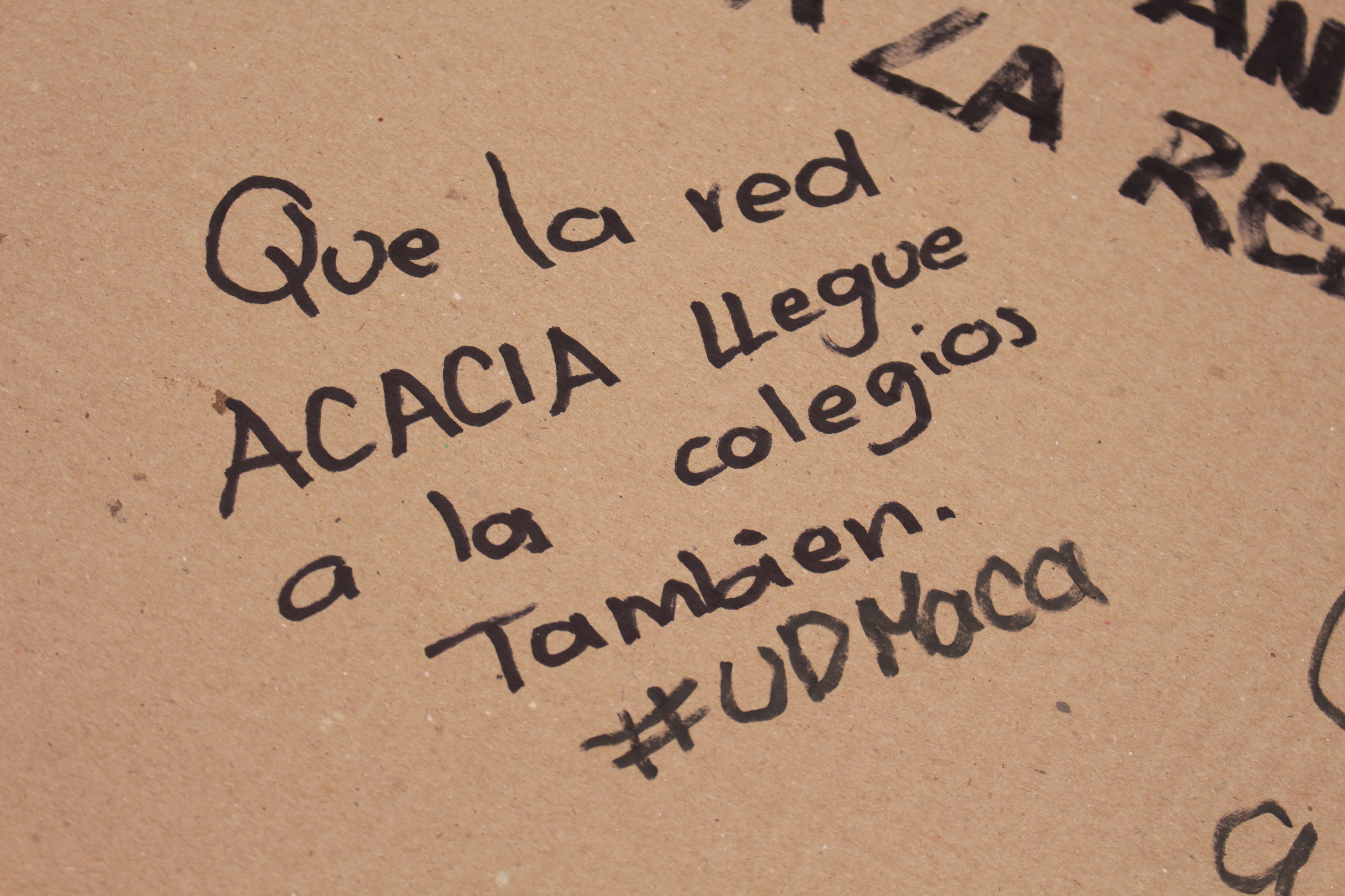 Que la Red Acacia llegue a los colegios también #UDMaca
