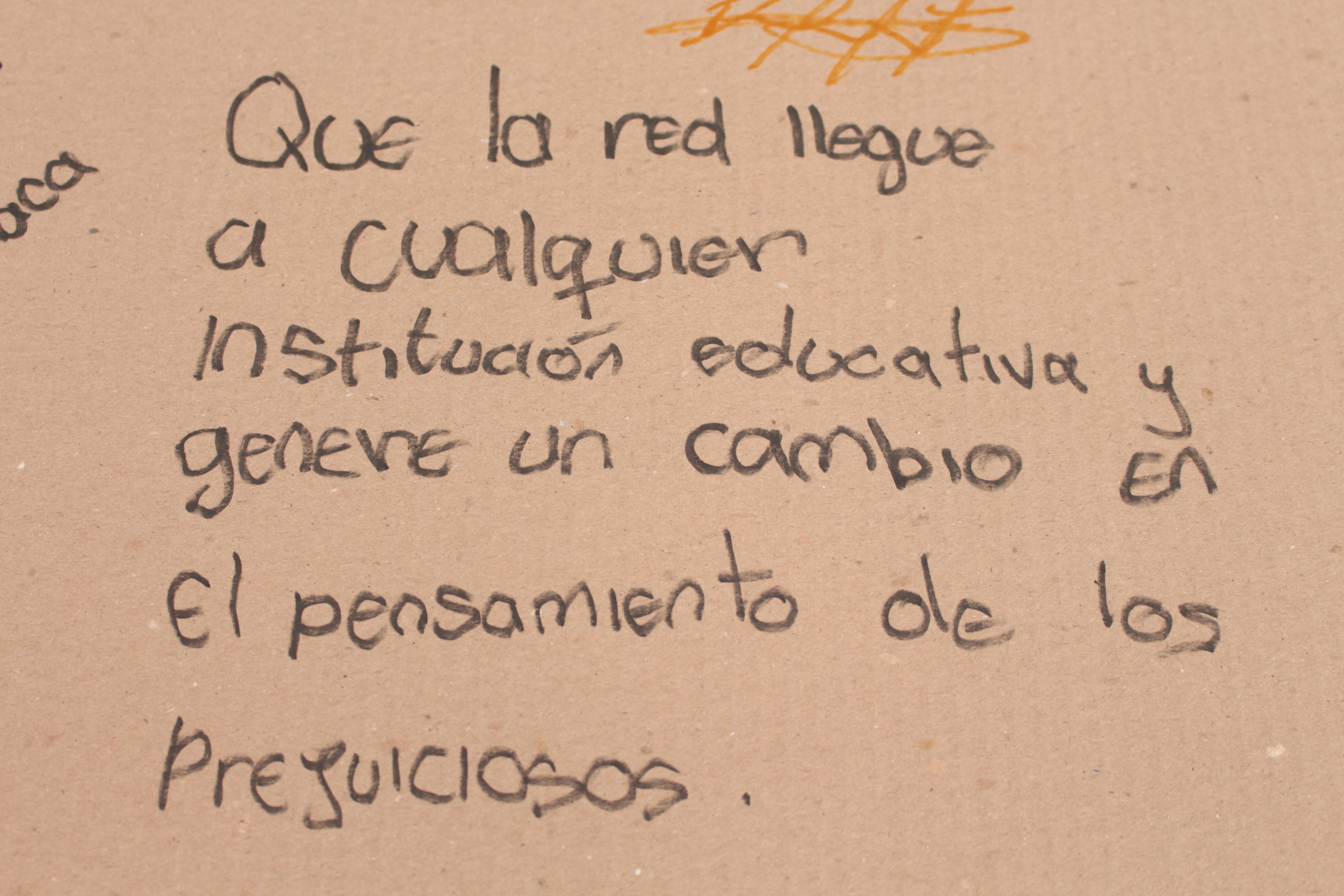 Que la Red llegue a cualquier institución educativa y genere un cambio en el pensamiento de los prejuiciosos