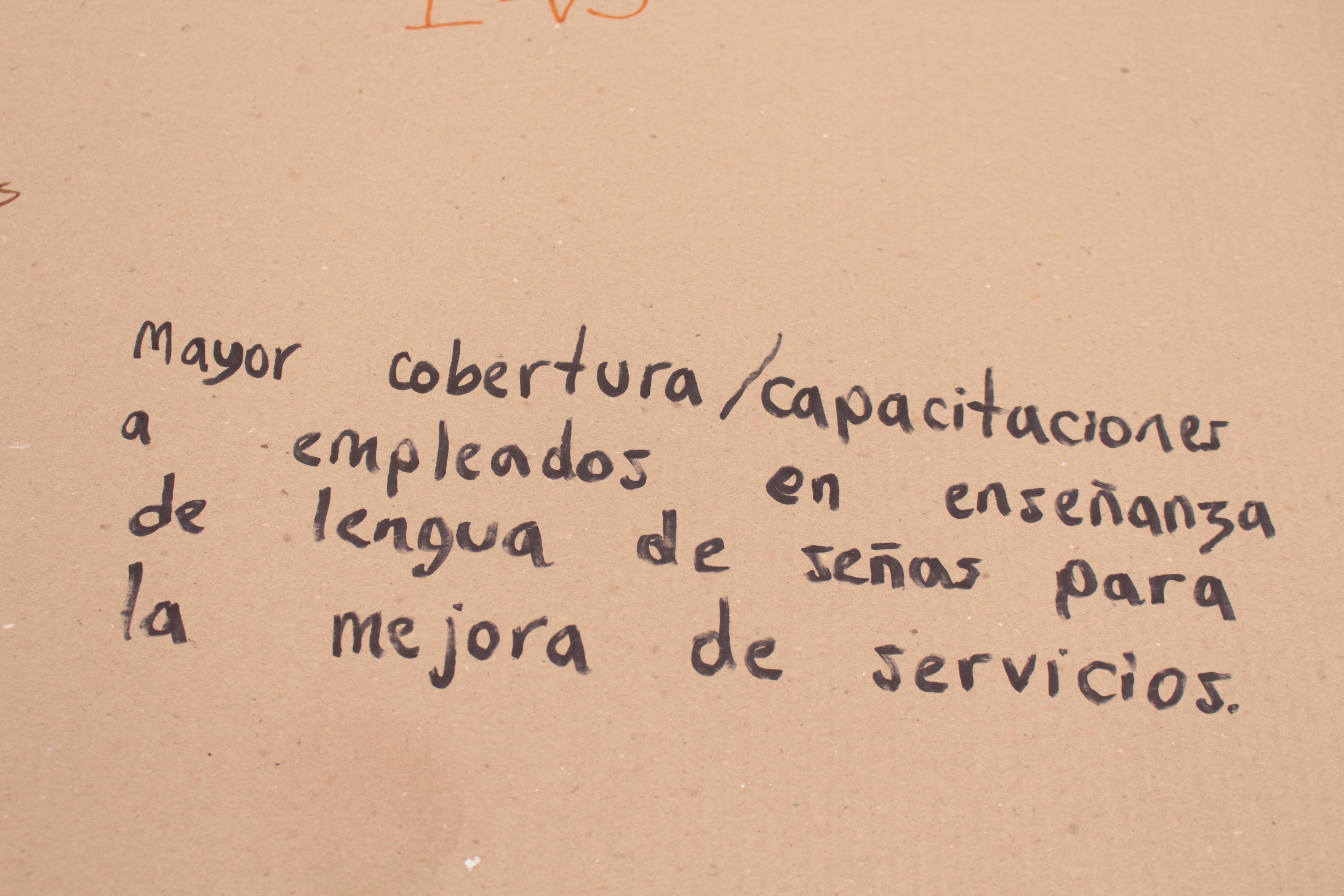 Mayor cobertura/capacitaciones a empleados en enseñanza de lengua de señas para la mejora de servicios