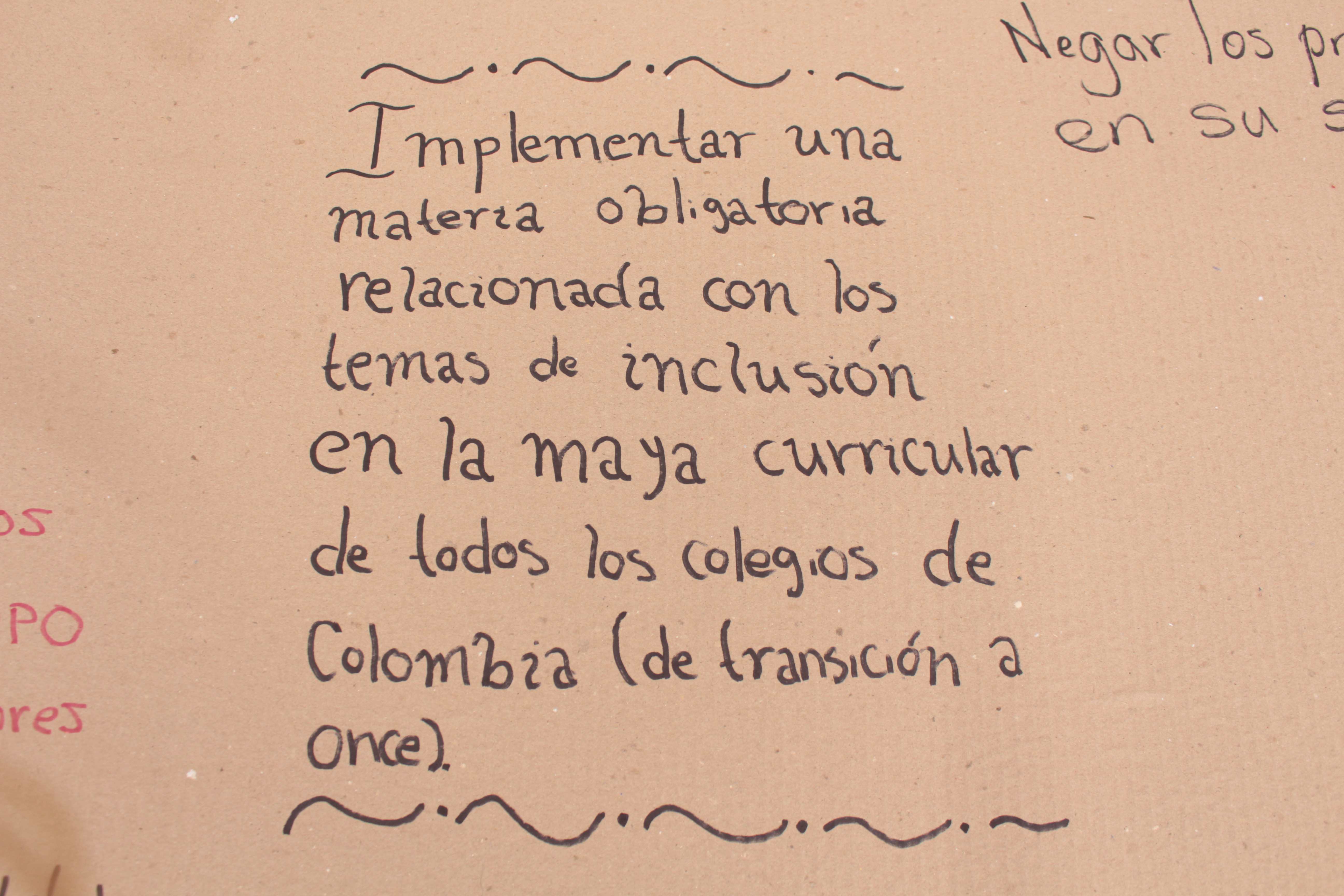 Implementar una materia obligatoria relacionada con los temas de inclusión en la malla curricular de todos los colegios de colombia