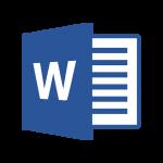 Icono de archivo word