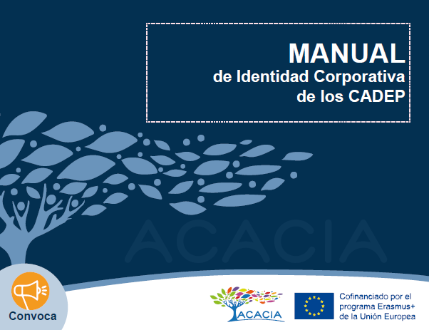 Portada del documento manual de identidad corporativa de los CADEP
