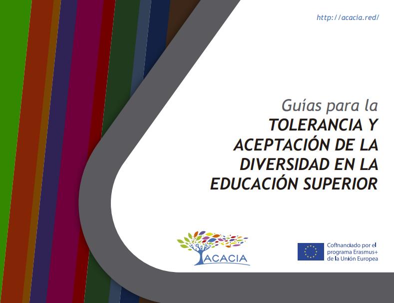 Portada de documento guías para la tolerancia y aceptación de la diversidad en la educación superior