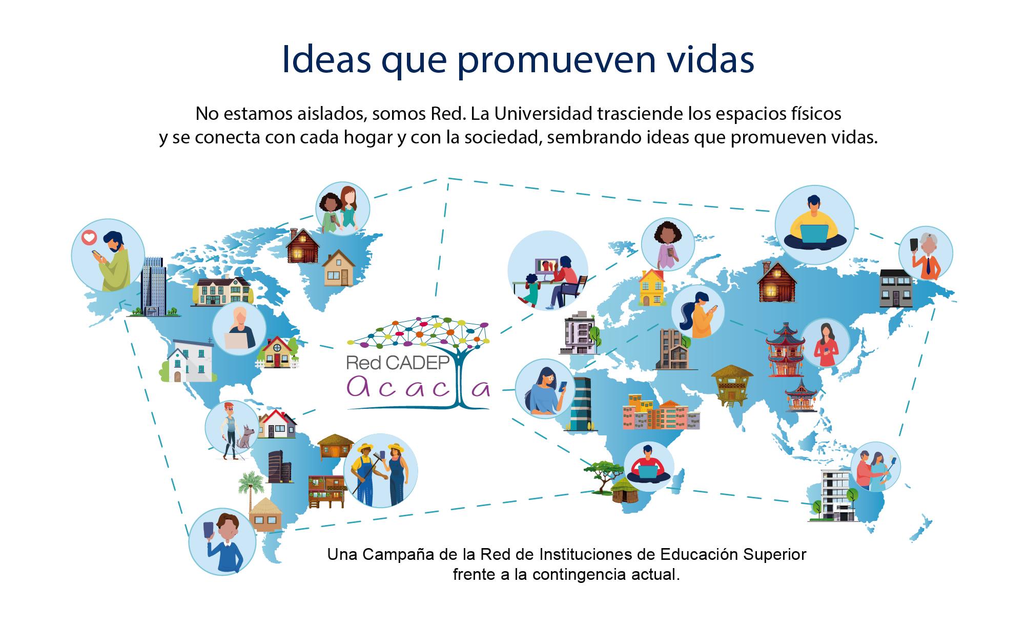 Ideas que promueven vidas una campaña de la red