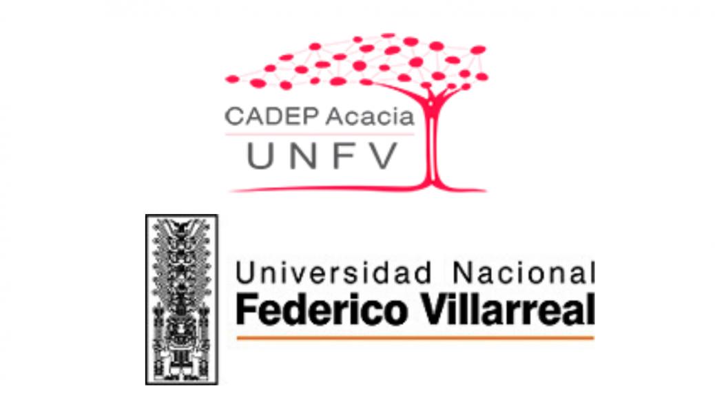 Logo del CADEP UNFV y logo de la universidad UNFV