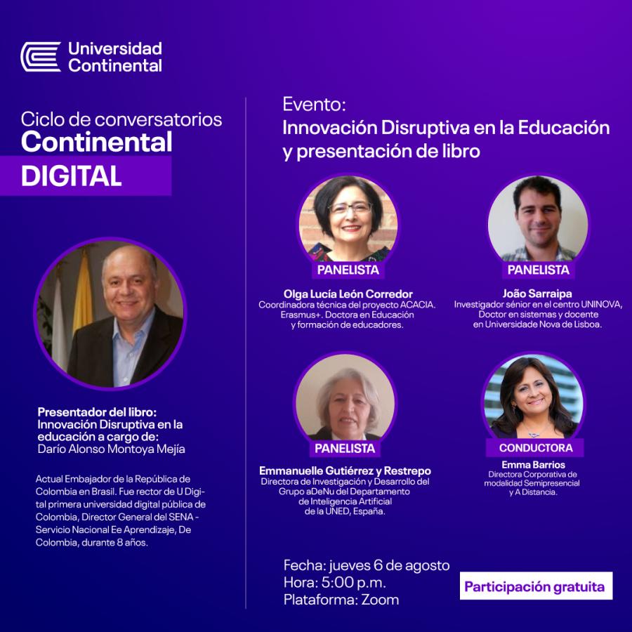 Innovación disruptiva en la educación y presentación de libro