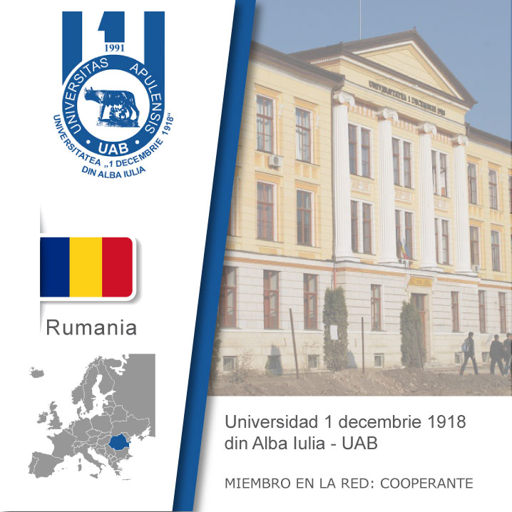 Logo de la UAB, Bandera de Rumania, ubicación del país en europa, Universidad como miembro cooperante de la red