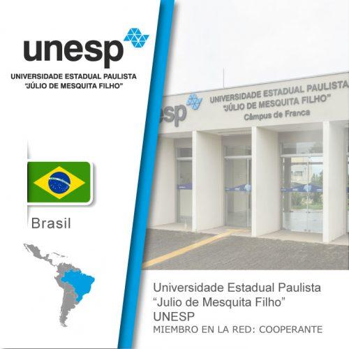Logo de la UNESP, Bandera de Brasil, Universidad como miembro cooperante de la red
