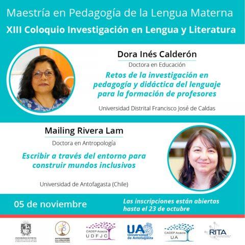 Docentes de los Centros Acacia de Bogotá y Antofagasta participarán en el XIII Coloquio Investigación en Lengua y Literatura